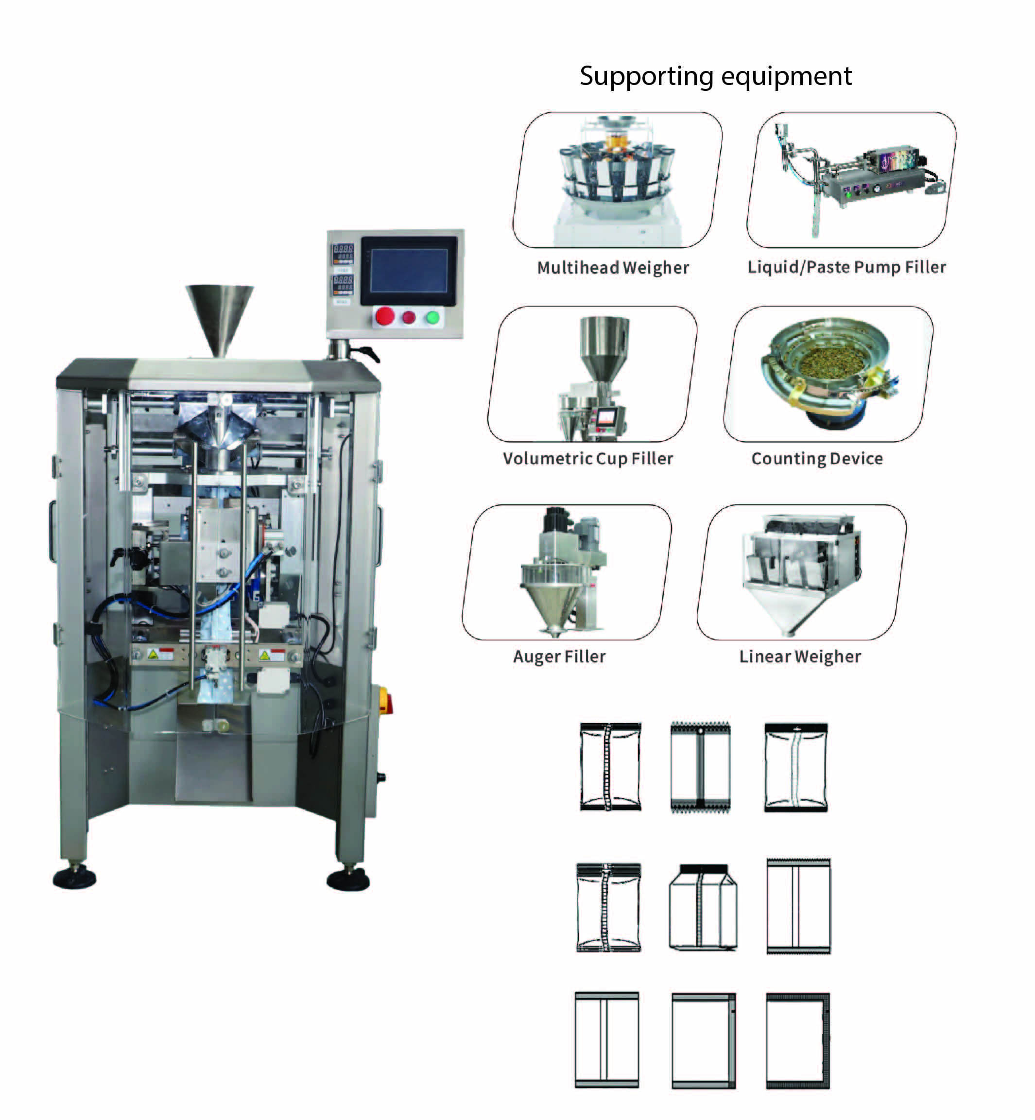 2-9_hal4 pro 2 (8) Three-Servo VFFS Packaging Machine
